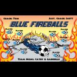 Fireballs Blue Vinyl Soccer Banner - Live Designer