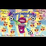 Firecrackers Vinyl Soccer Banner - Live Designer