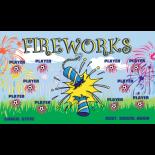 Fireworks Fabric Soccer Banner - E-Z Order