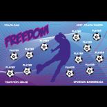 Freedom Fabric Soccer Banner - E-Z Order