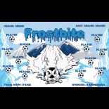 Frostbite Fabric Soccer Banner - Live Designer