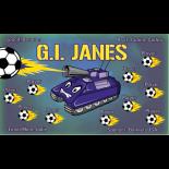GI Janes Fabric Soccer Banner Live Designer