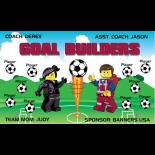 Goal Builders Fabric Soccer Banner - Live Designer