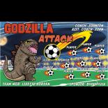 Godzilla Attack Fabric Soccer Banner - E-Z Order