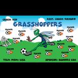 Grasshoppers Fabric Soccer Banner - E-Z Order
