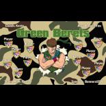 Green Berets Fabric Soccer Banner - E-Z Order