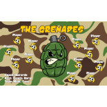 Grenades Fabric Soccer Banner - E-Z Order