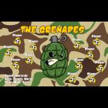 Grenades Fabric Soccer Banner - Live Designer