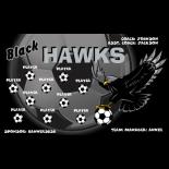 Hawks Black Vinyl Soccer Banner - Live Designer