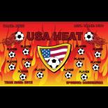 Heat USA Vinyl Soccer Banner Live Designer