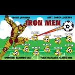 Iron Men Vinyl Soccer Banner - Live Designer