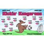 Kangaroos Kickin Vinyl Soccer Banner - Live Designer