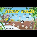 Kickin Koalas Vinyl Soccer Banner - Live Designer