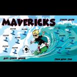 Mavericks Vinyl Soccer Banner - Live Designer