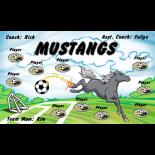 Mustangs Vinyl Soccer Banner - Live Designer