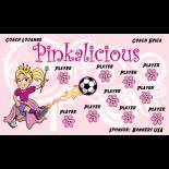 Pinkalicious Vinyl Soccer Banner - Live Designer
