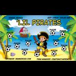 Pirates LiL Vinyl Soccer Banner - Live Designer