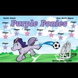 Ponies Purple Vinyl Soccer Banner - Live Designer