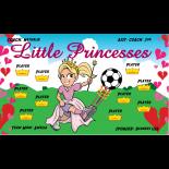 Princesses Little Fabric Soccer Banner - Live Designer