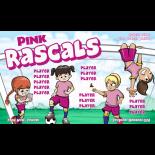 Rascals Pink Fabric Soccer Banner - Live Designer