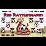Rattlesnakes Fabric Soccer Banner Live Designer