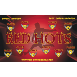 Red Hots Fabric Soccer Banner - Live Designer