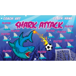 Shark Attack Vinyl Soccer Banner - Live Designer
