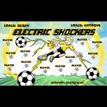 Shockers Electric Vinyl Soccer Banner - Live Designer
