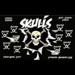 Skulls Fabric Soccer Banner - Live Designer
