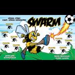 Swarm Fabric Soccer Banner - Live Designer