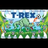 T-Rex Vinyl Soccer Banner - Live Designer