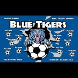 Tigers Blue Vinyl Soccer Banner - Live Designer