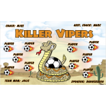 Vipers Killer Vinyl Soccer Banner - Live Designer
