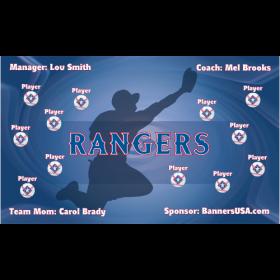 Rangers Vinyl Baseball Team Banner - E-Z Order