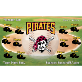 Pirates Baseball Team Banner - Live Designer