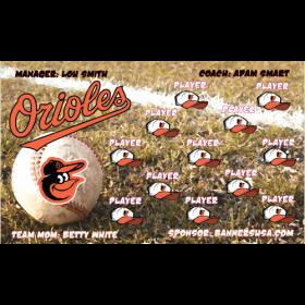 Orioles Vinyl Baseball Team Banner - E-Z Order