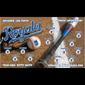 Royals Baseball Team Banner - Live Designer