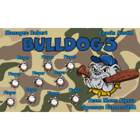 Bulldogs Vinyl Baseball Team Banner - E-Z Order