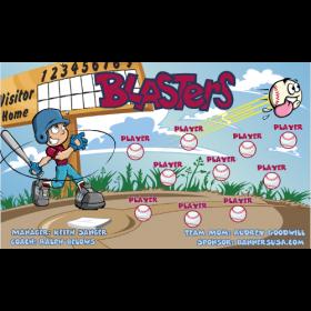 Blasters Baseball Team Banner - Live Designer