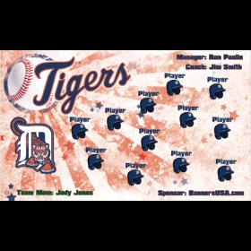 Tigers Baseball Team Banner - Live Designer