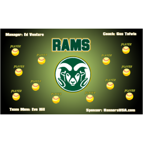 Colorado State Rams Vinyl College Team Banner - E-Z Order