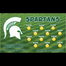 Michigan State Spartans Vinyl College Team Banner - E-Z Order