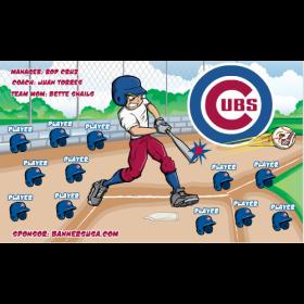 Cubs Baseball Team Banner - Live Designer
