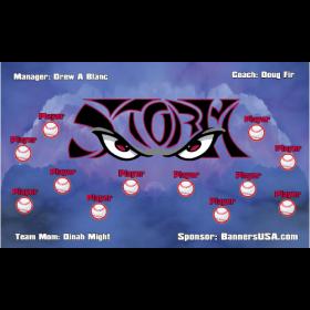 Storm Baseball Team Banner - Live Designer