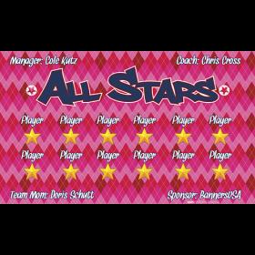 All Stars Team Banner  - Live Designer