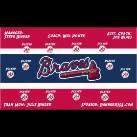 Braves Major League Team Banner - Live Designer