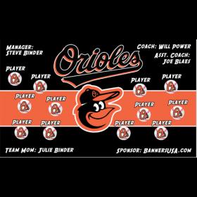 Orioles Vinyl Major League Banner - E-Z Order