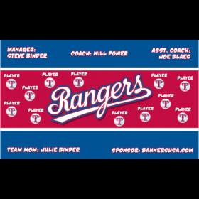 Rangers Vinyl Major League Banner - E-Z Order