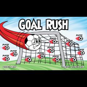 Goal Rush Vinyl Soccer Banner - E-Z Order