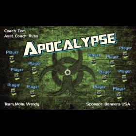 Apocalypse Fabric Soccer Banner - E-Z Order